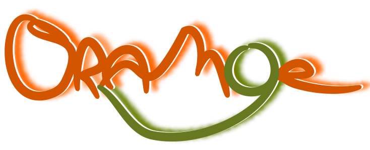 orange trio music band logo